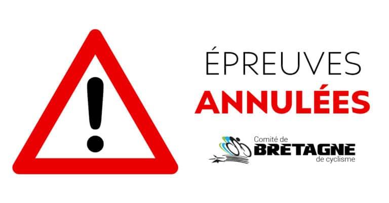 Les Championnats de Bretagne de contre-la-montre par équipes annulés