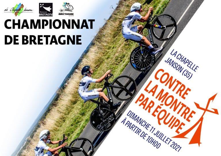 Règlement et engagements des Championnats de Bretagne contre-la-montre par équipes du 11 juillet 2021