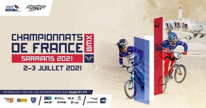 Championnats de France BMX : Arthur PILLARD en bleu-blanc-rouge